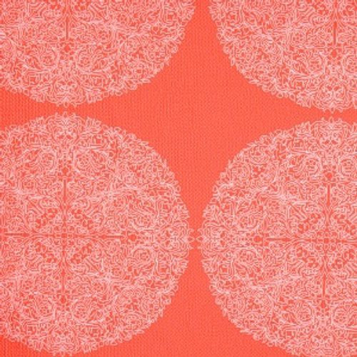 S. Harris Schraft'S Hot Coral Fabric - Fabric