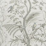 Brunschwig & Fils Bird And Thistle Gray Wallpaper