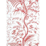 Brunschwig & Fils Bird And Thistle Red Wallpaper