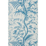 Brunschwig & Fils Bird And Thistle Blue Wallpaper