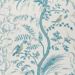 Brunschwig & Fils Bird And Thistle Aqua Wallpaper