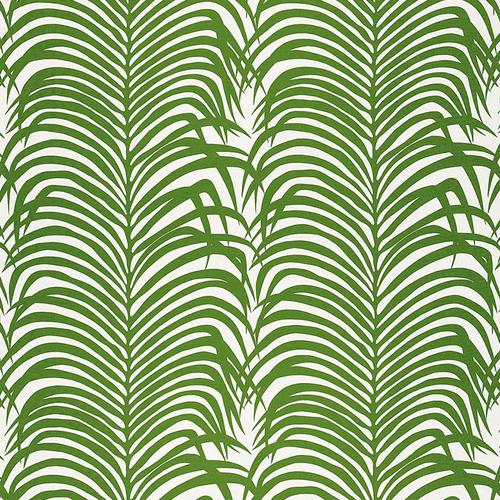 Schumacher Zebra Palm Jungle Fabric - Fabric