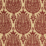 Schumacher Izmir Chenille Red Earth Fabric