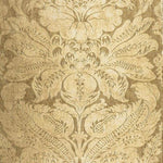 Schumacher Cordwain Damask Gilt Fabric