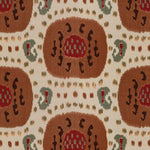 Brunschwig & Fils Samarkand Cotton And Linen Print Brown On Beige Fabric