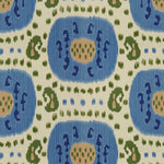 Brunschwig & Fils Samarkand Cotton And Linen Print Canton Blue/Green Fabric