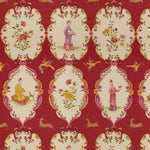 Brunschwig & Fils Geisha Lacquer Red/Purple Fabric
