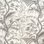 Brunschwig & Fils Bird And Thistle Cotton Print Gray Fabric