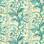Brunschwig & Fils Bird And Thistle Cotton Print Aqua Fabric
