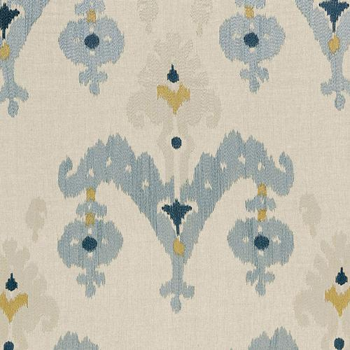 Schumacher Raja Embroidery Stone Fabric - Fabric