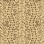 Brunschwig & Fils Les Touches Cotton Print Brown Fabric