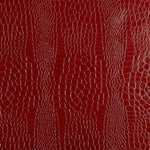 Schumacher Crocodile Crimson Wallpaper
