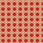 Fabricut Vlad Lattice Red Fabric
