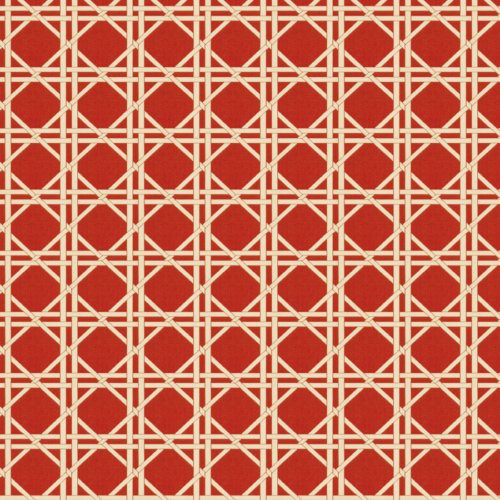 Fabricut Vlad Lattice Red Fabric - Fabric