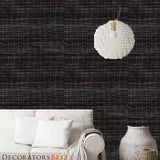 Phillip Jeffries Soho Hemp Black And White Wallpaper