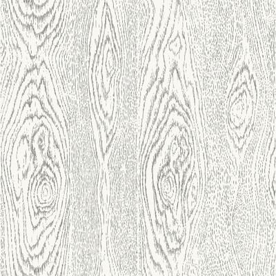 Cole & Son Wood Grain Black And White Wallpaper - Wallpaper