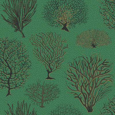 Cole & Son Seafern Emerald Wallpaper - Wallpaper