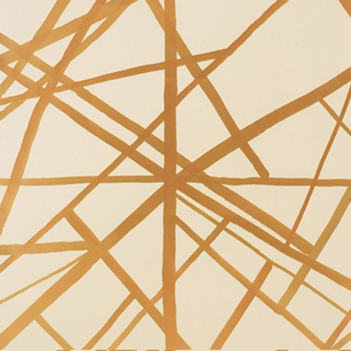 Groundworks Channels Paper Copper/Beige Narrow Wallpaper - Wallpaper