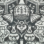 Clarence House The Vase Charcoal Wallpaper