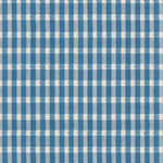 Brunschwig & Fils Halsey Cotton Check Oxford Blue Fabric