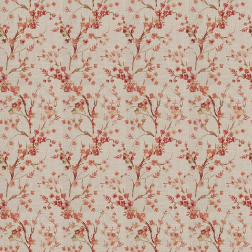 Fabricut Brovina Floral Coral Fabric - Fabric
