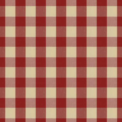 Brunschwig & Fils Exchequer Cotton Check Scarlet Fabric - Fabric