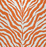 Clarence House Od Zebra Orange Fabric