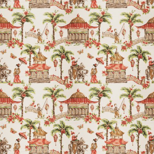 Fabricut Margin Coral Fabric - Fabric