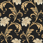 Norwall Floral Scroll Jc20066 Wallpaper