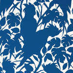 Brunschwig & Fils Boca Chica(Positive) On Paper Boca Blue On White Wallpaper