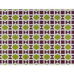 Gaston Y Daniela Collins Avenue Verde/Morado Fabric