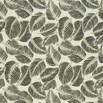 Schumacher Costa Rica Faded Black Fabric