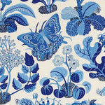Schumacher Exotic Butterfly Marine Fabric