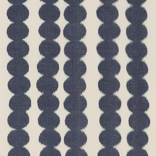 Schumacher Full Circle Navy Fabric - Fabric