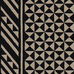 Schumacher Nuba Black On Natural Fabric