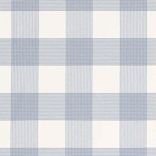 Schumacher Antigua Plaid Cornflower Fabric - Fabric