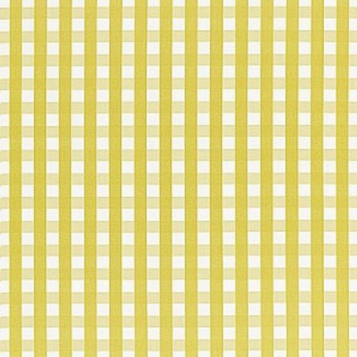 Schumacher Bermuda Check Citron Fabric - Fabric