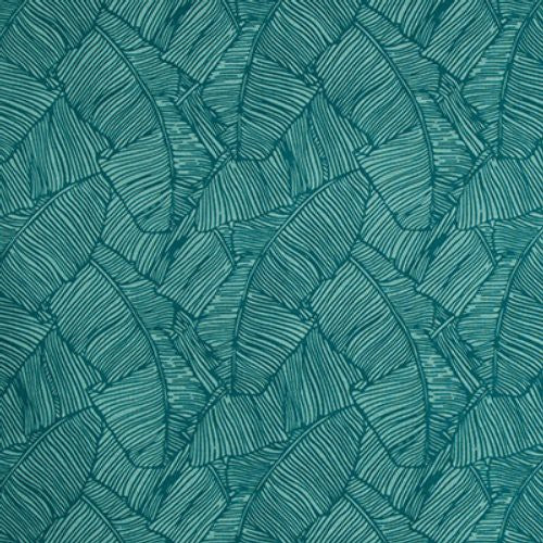 Brunschwig & Fils Les Palmiers Print Teal Fabric - Fabric