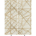 Groundworks Channels Paper Latte/Suede Wallpaper
