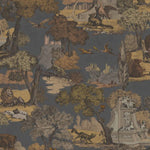Cole & Son Versailles Grand Charcoal & Bronze Fabric