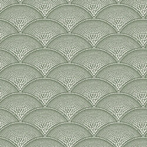 Cole & Son Feather Fan Old Olive Fabric - Fabric