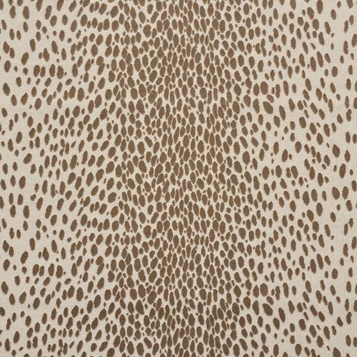 Schumacher Cheetah Velvet Natural Fabric - Fabric