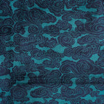 Schumacher Sozan Velvet Peacock Fabric