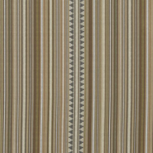 Mulberry Pageant Stripe Mocha Fabric - Fabric