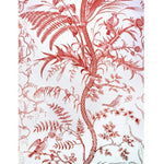 Brunschwig & Fils Bird And Thistle Cotton Print Red Fabric