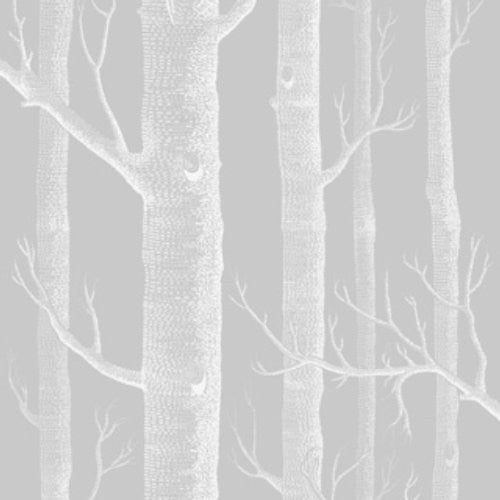 Cole & Son Woods Soft Grey Fabric - Fabric