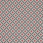 Schumacher Serendipity Slate & Rouge Fabric