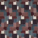 Mulberry Bohemian Patchwork Indigo/Red Fabric