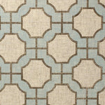 Phillip Jeffries Imperial Gates Dove And Taupe On Linen Wallpaper