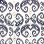Phillip Jeffries Indo Ikat Gold And Navy On White Manila Hemp Wallpaper